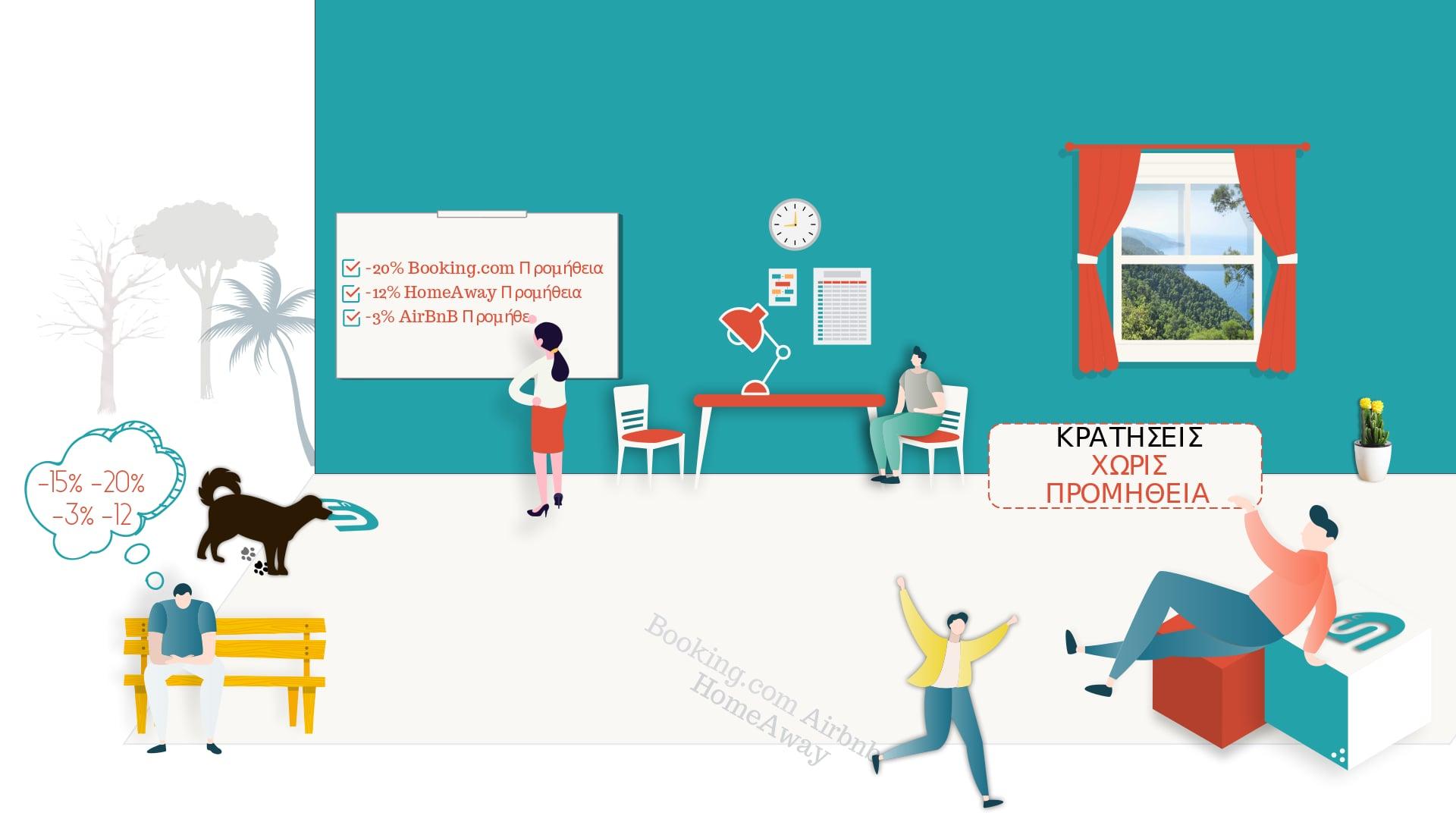 Σύστημα Online Κρατήσεων για τουριστικά καταλύματα - SITEnDESIGN
